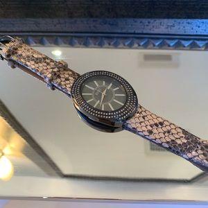Badgley Mischka Snake Skin Stainless Steel Watch!